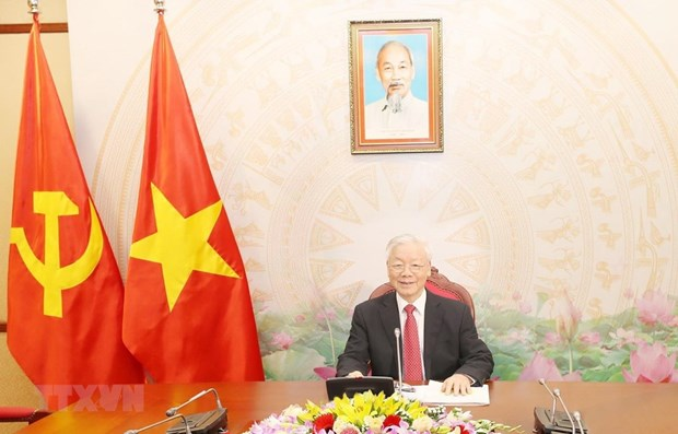 Vietnam always treasures special relations with Cuba: Top leader hinh anh 1