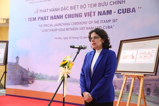 Joint stamp issue marks 60th anniversary of Vietnam-Cuba diplomatic ties hinh anh 2