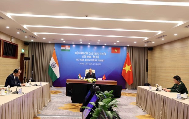 Vietnam, India set forth joint vision for peace, prosperity and people hinh anh 1