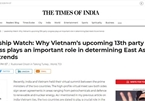 Indian newspaper highlights importance of Vietnam's 13th party congress