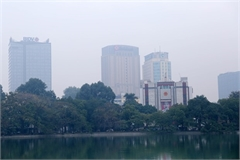 Winter air warning on heavily polluted days
