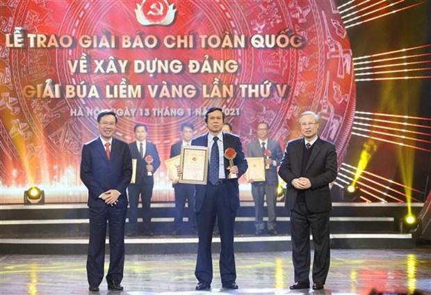 Winners of National Press Awards on Party building named hinh anh 2