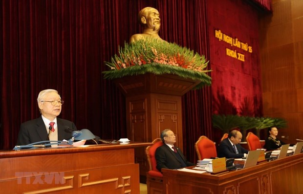 Party Central Committee's 15th plenum focuses on personnel work hinh anh 1