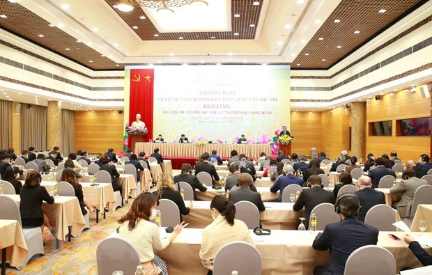 Diplomatic corps, int'l organisations updated on Party Congress's outcomes hinh anh 2
