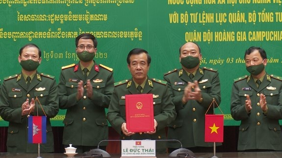 Vietnam, Cambodia's border guard forces step up cooperation hinh anh 1