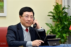 Deputy PM, FM Pham Binh Minh holds phone talks with US State Secretary Antony Blinken