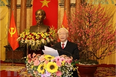 Top leader: Turn opportunities into reality to build prosperous, happy Vietnam
