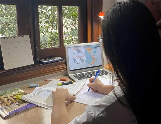 HCM City's students to continue online study after Tet over COVID-19 concerns hinh anh 1