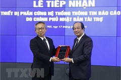 Vietnam receives Japanese equipment for Government Information Reporting System