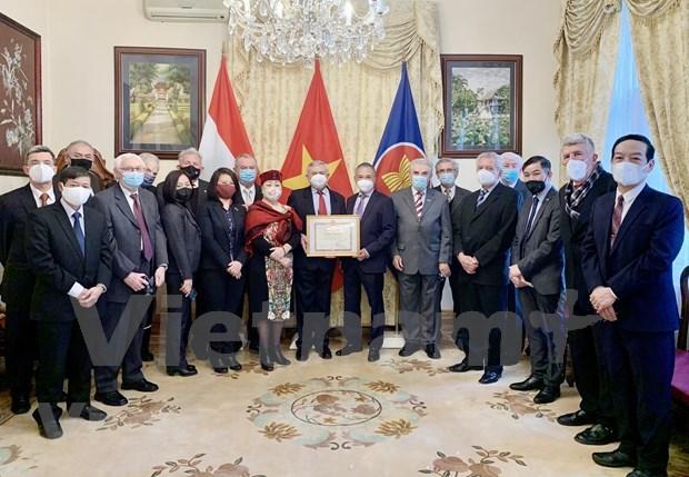 Hungary-Vietnam Friendship Association leaders honoured hinh anh 2