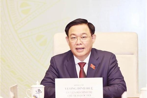 Top legislator holds phone talks with Lao counterpart