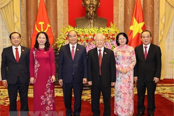 Duty handover ceremony held between former, new State Presidents