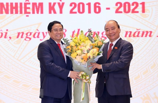 Ceremony held for handover of duty to new Prime Minister hinh anh 1