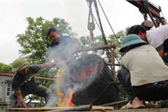 Around 300-kg bronze drum being made to mark national elections