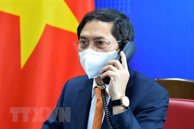 Vietnamese, German foreign ministers hold phone talks hinh anh 1