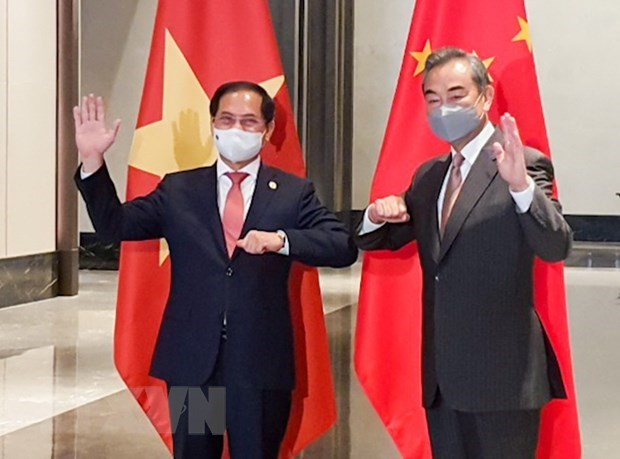 Vietnamese, Chinese Foreign Ministers hold talks hinh anh 1