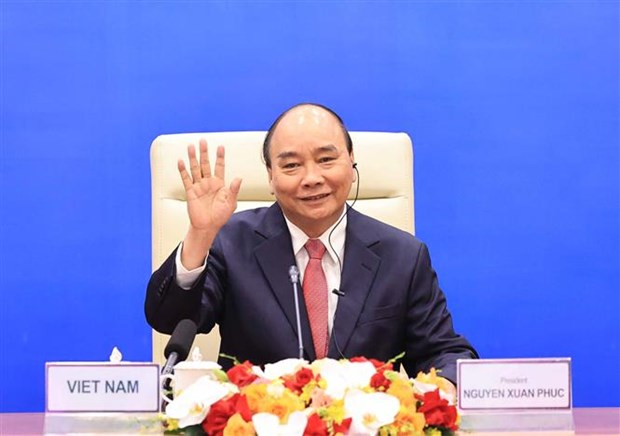 Vietnamese President attends APEC Informal Leaders Retreat on COVID-19 hinh anh 2