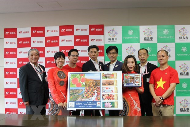 Fukushima issues stamp sets as host town of Vietnam's Olympic delegation hinh anh 2