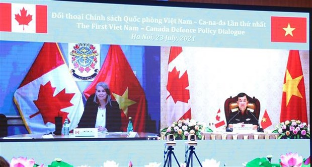 Vietnam, Canada hold first online defence policy dialogue hinh anh 1