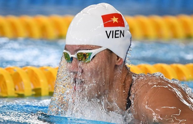 Vietnamese swimmer ends journey at Olympic Tokyo 2020 hinh anh 1