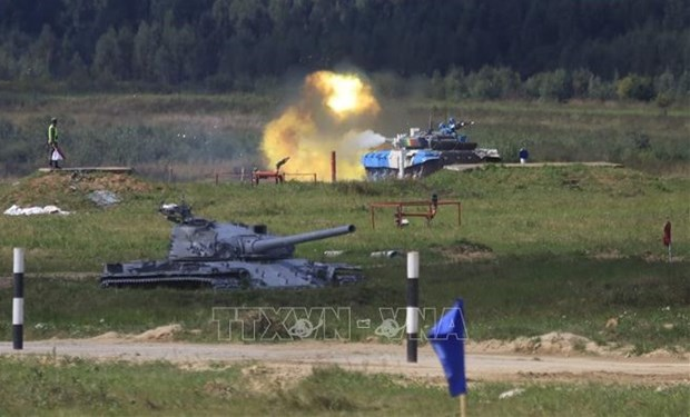 Vietnamese tank crew secures group's second place at Army Games 2021 hinh anh 1