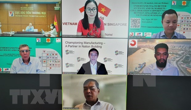 Vietnamese, Singaporean firms tap FTAs with EU, UK to expand cooperation hinh anh 1