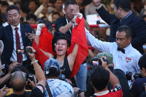 Vietnamese female boxer to fight for WBO's world belt in RoK hinh anh 1