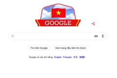 Google marks Vietnam's National Day with national flag doodle