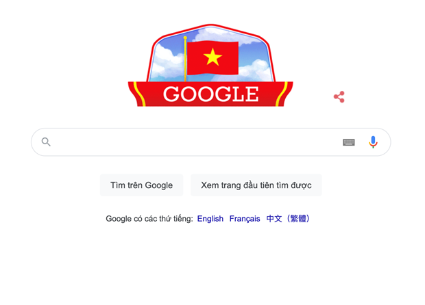 Google marks Vietnam's National Day with national flag doodle hinh anh 1