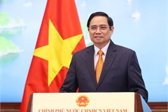 Remarks by PM Pham Minh Chinh at 2021 Global Trade in Services Summit