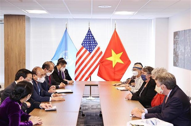 President Nguyen Xuan Phuc receives US friends in New York hinh anh 2