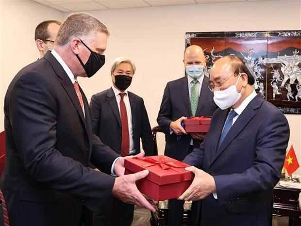President welcomes leading US energy enterprises hinh anh 3