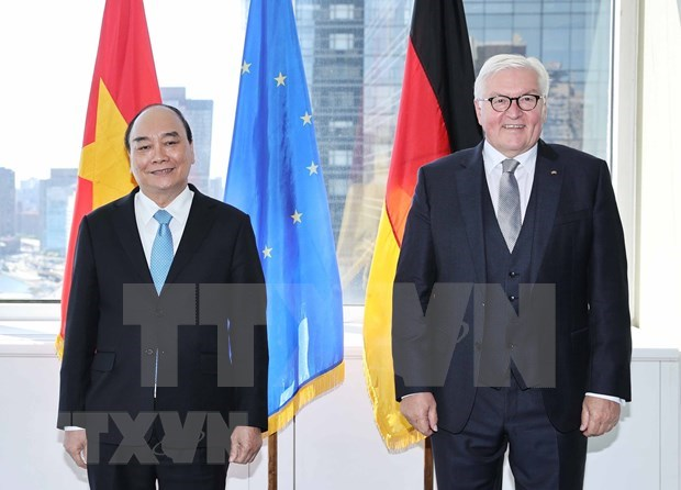 President meets German counterpart, concludes US trip hinh anh 2