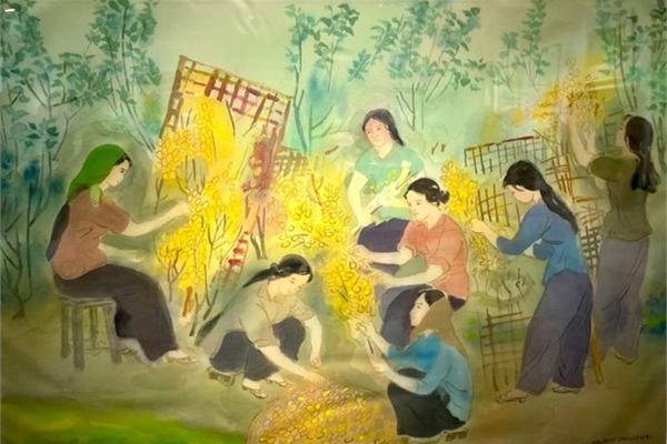Works by veteran painters showcased in Hanoi