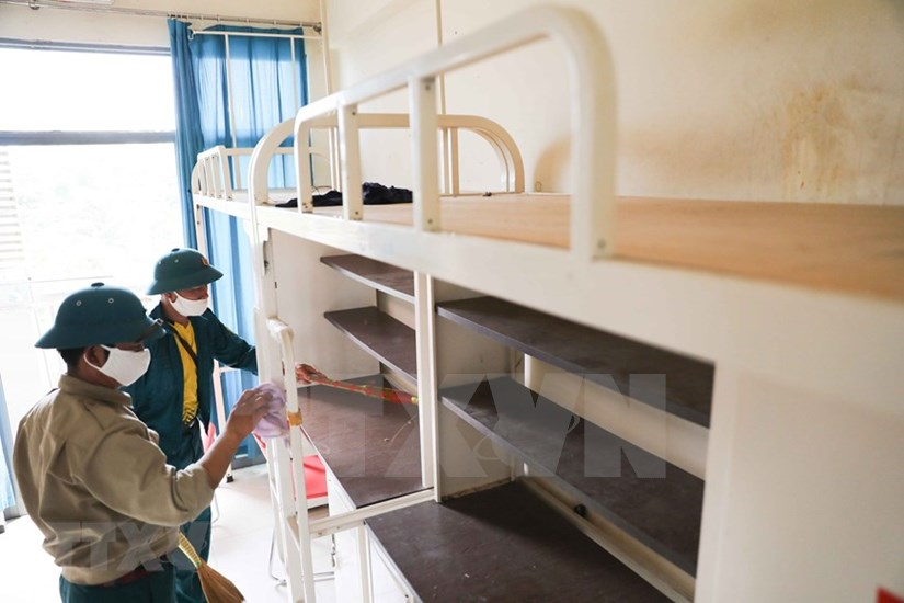 FPT University dorm readies to house 2,000 quarantined people hinh anh 12