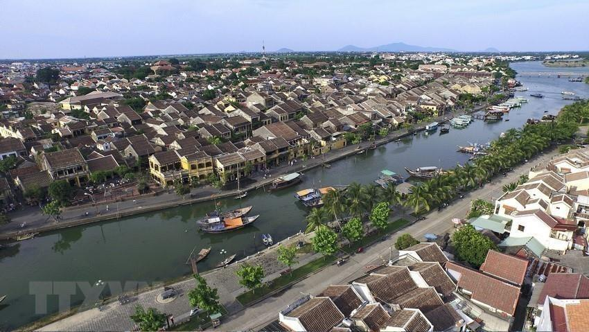 Aerial view of Hoi An ancient town (Photo: VNA)