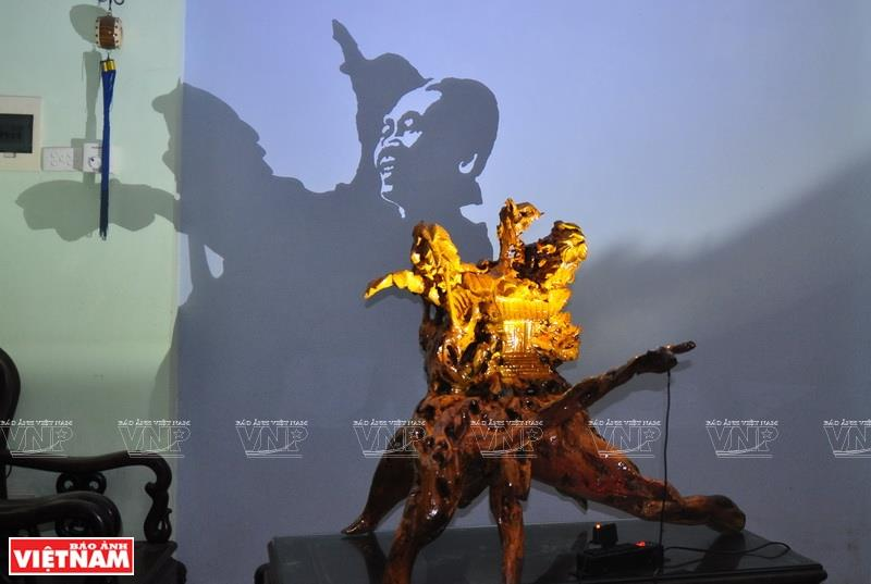 Image of General Vo Nguyen Giap through the art form (Photo: VNA)