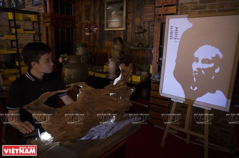 Image of President Ho Chi Minh is among Tu's favourite artwork (Photo: VNA)