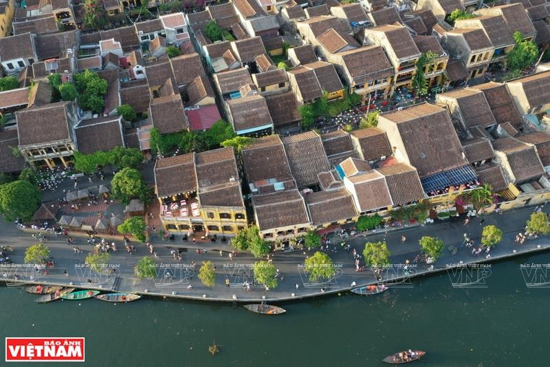 Hoi An Ancient Town peacefully lies on the banks of Hoai River (Photo: VNA)