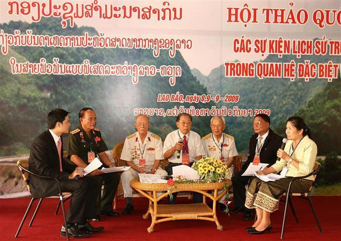 An exchange programme between Vietnam-Laos historical witnesses, Lao Bao town, Quang Tri province, September 9, 2009 (Photo: VNA)
