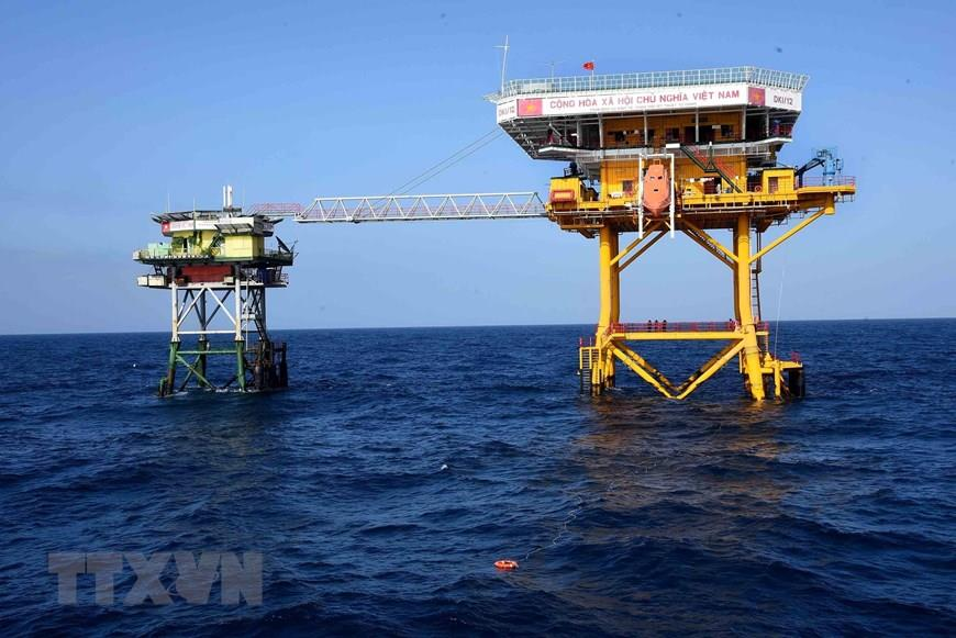 DK1/12 rig is located on the southern continental shelf of Vietnam (Photo: VNA)