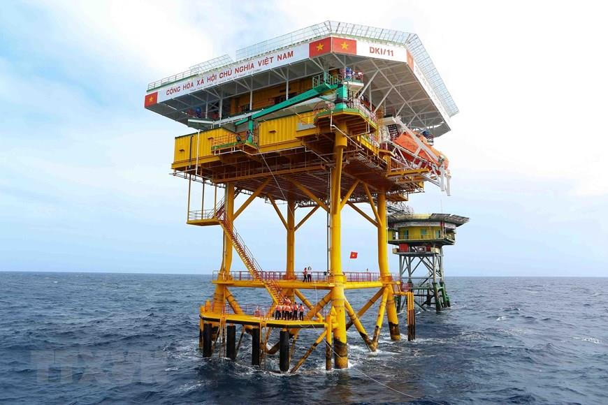 DK1/11 rig is located on the southern continental shelf of Vietnam (Photo: VNA)
