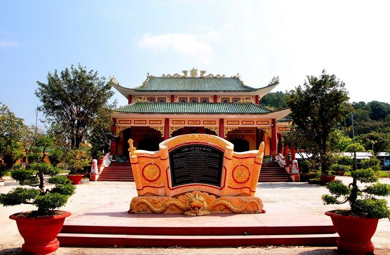 A temple dedicated to Madame Mac Mi Co, an actual historical figure who helped many locals in Ha Tien in the past (Photo: VNA)