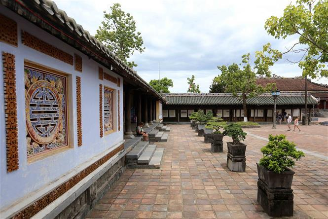 The Citadel is the main tourist attraction for visitors coming to Hue (Photo: VNA)