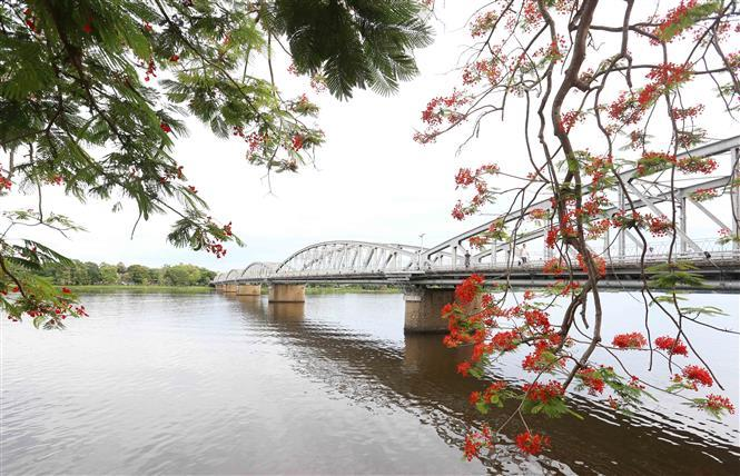Truong Tien Bridge by the romantic Huong River (Photo: VNA)