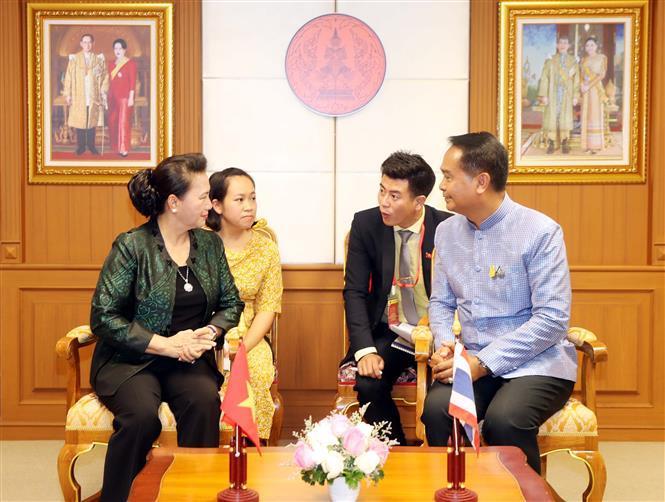 Chairwoman of National Assembly Nguyen Thi Kim Ngan meets Udon Thani leader (Photo:VNA)