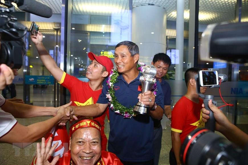It has been seven years since the team's last trophy at the tournament and their third overall and is their third title to date (Photo:VNA)