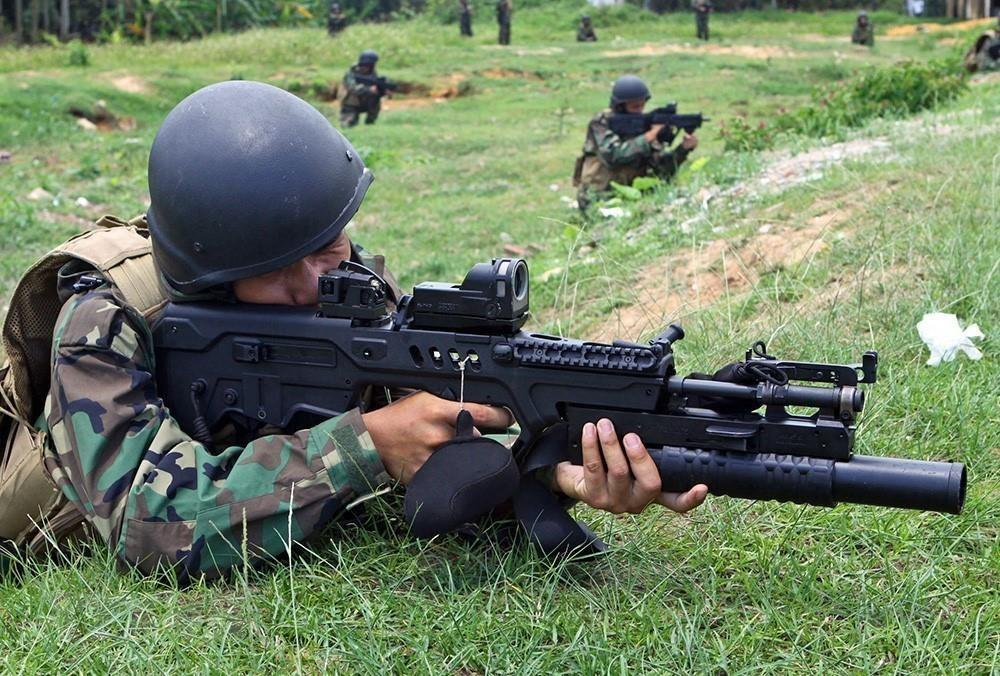 A drill of the naval commando forces (Photo: VNA)