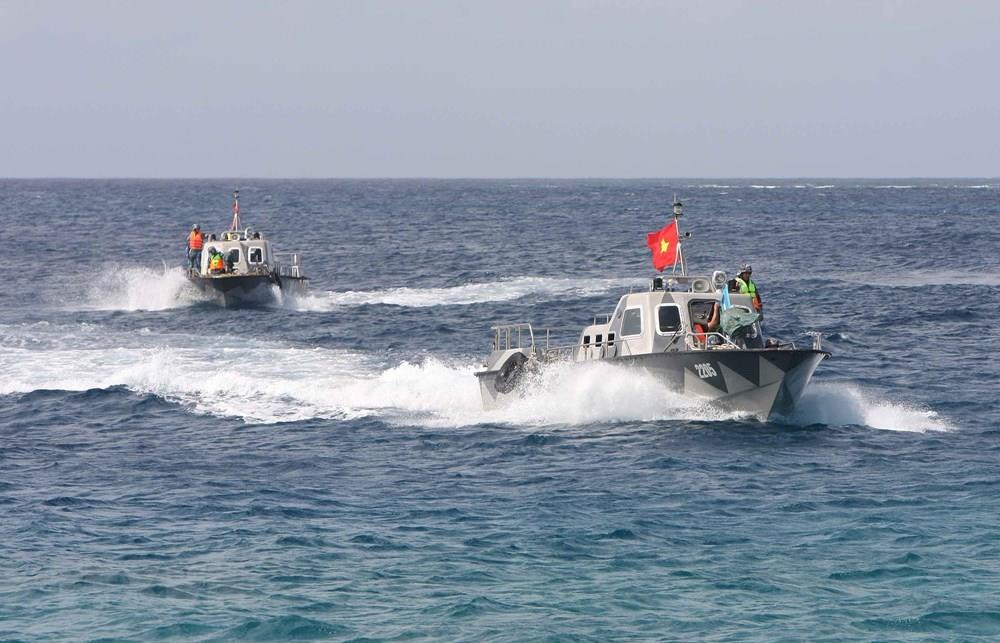 Vietnam's naval forces safeguarding Truong Sa (Spratly) archipelago are equipped with modern surveillance means (Photo: VNA)