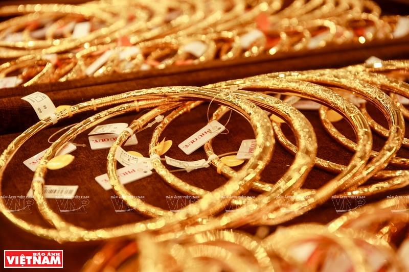 24 carat gold jewelry is a key product line (Photo: VNA)